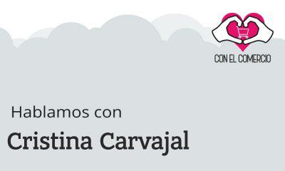 Cristina Carvajal Coll, con el comercio