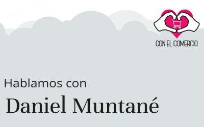 Daniel Muntané, con el comercio