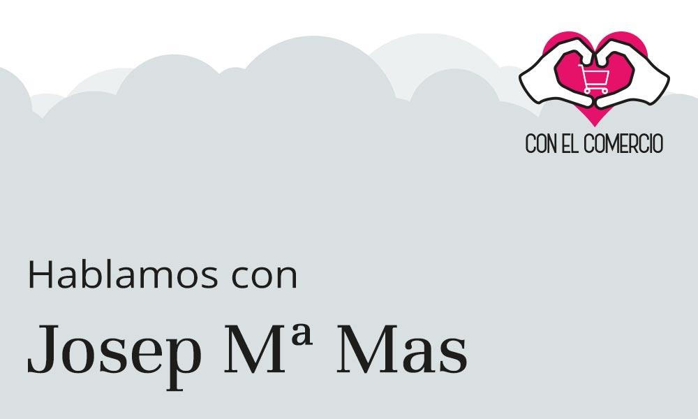 Josep Maria Mas, con el comercio