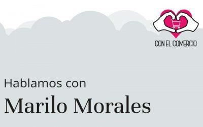 Marilo Morales, con el comercio