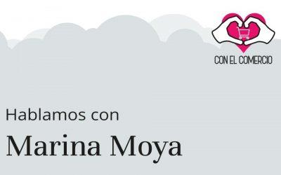 Marina Moya, con el comercio