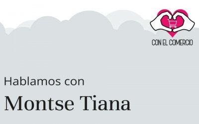 Montse Tiana, con el comercio