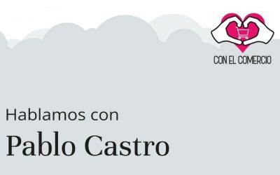 Pablo Castro, con el comercio